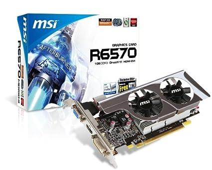 MSI R6570-MD1GD3/LP Radeon HD6570 1GB GDDR3 - Tarjeta gráfica ...