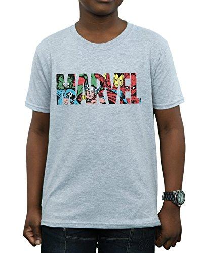 deportiva Personaje Comics Logo Boy Infill Marvel Camiseta Gris nwY6qPpU