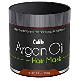 Calily Premium Natural Argan Oil Hair Mask, 8.8 Oz. - Deep Conditioner - Repairs Damaged Hair, Hydrates, Softens, Strengthens, Shines and Nourishes – Promotes Healing and Natural Hair Growth