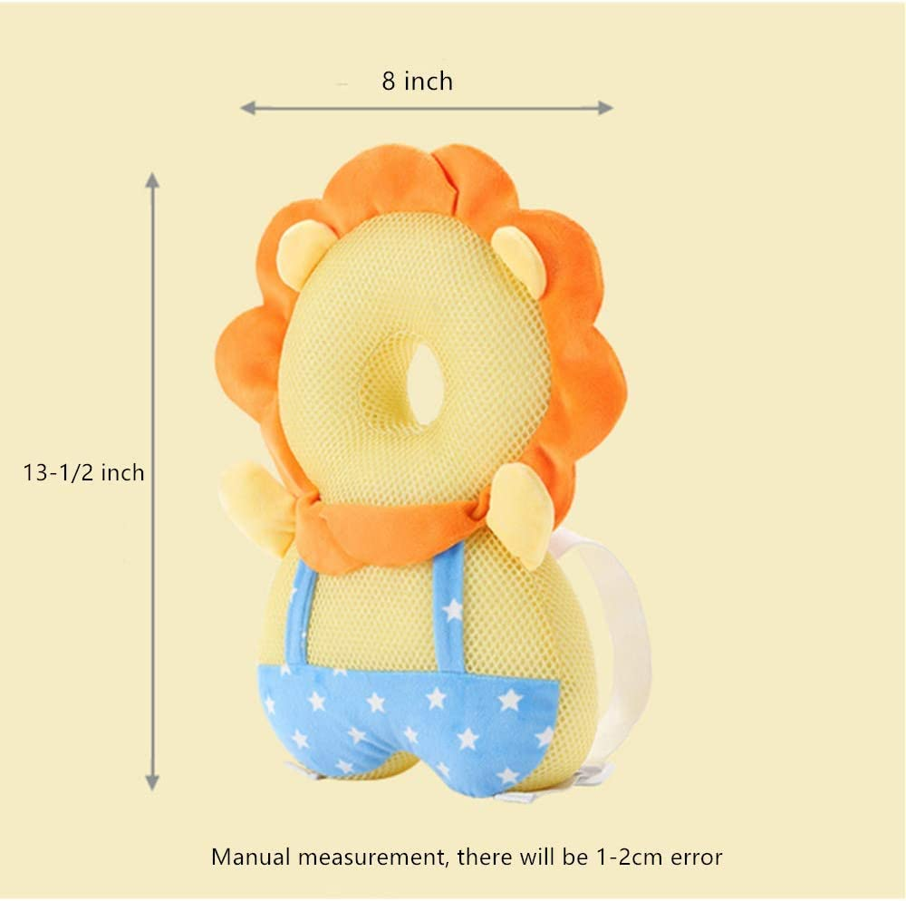 Black XIZHI Baby Toddlers Head Protective Baby Safety Mat Protection Head Protection Pillow Elastic Comfortable Shoulder Back Learn Walking Protective Cushion