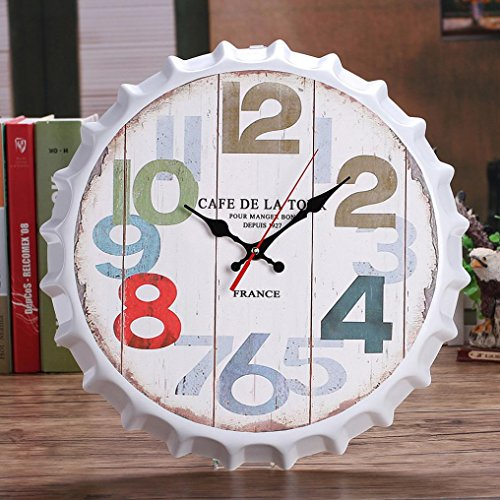 DDLBiz Vintage Non-Ticking Silent Antique Cape Wall Clock for Home Kitchen Office (D) by DDLBiz