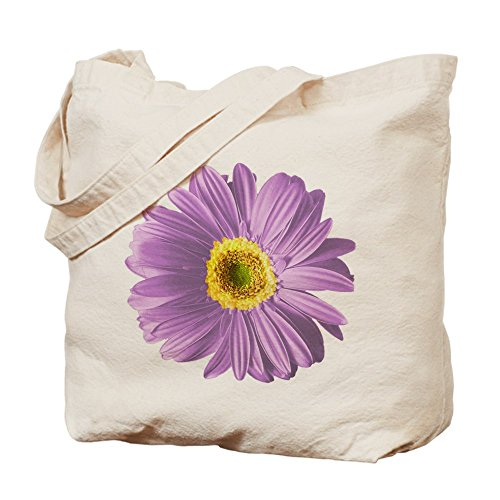 CafePress–Pop Art Viola Daisy–Borsa di tela naturale, panno borsa per la spesa