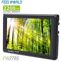 FEELWORLD FW279S 7 Inch Ultra Bright 2200nit DSLR Camera...