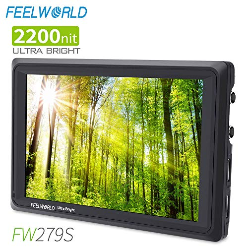 FEELWORLD FW279S 7 Inch Ultra Bright 2200nit DSLR Camera Field Monitor Daylight Viewable High Brightness Full HD 1920×1200 3G SDI 4K HDMI Input Output