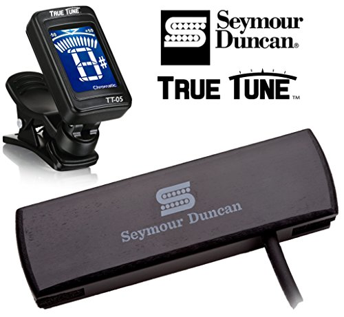 Seymour Duncan Woody Series SC SA-3SC-BLK - Single Coil Acoustic Guitar Pickup Tuner Bundle 11500-30-BLK ()