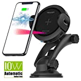 Wireless Car Charger - 10W Fast Charger Car Mount,Qi Car Charger Holder for Iphone x 8/8Plus Samsung Galaxy S8/S9/Note.Infrared Motion Sensor Automatic Open and Clamp for Safe Driving (10W Update)