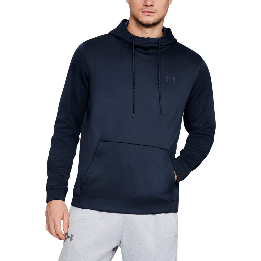 Under Armour Men's Armour Fleece Pullover Hoodie, Academy (408)/Black, 3X-Large