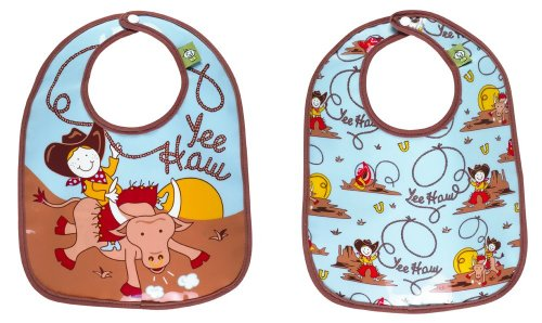 Sugarbooger Mini Bib Gift Set, Yee Haw, 2 Count Western Lunch