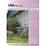 Usa Folien 7974, Papel Fotográfico, Inkjet, A4, Glossy, Profissional, 240 g, Multicor, Pacote de 10