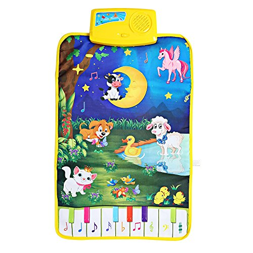 Baby Musical Cartoon Animal Piano Play Mat Language Learning Toy - 1