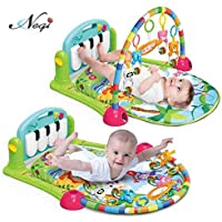Negi New-Born Baby Play Gym Multi-Function Piano Fitness Rack with Music Rattle Infant Activity Play Mat (Baby Play Gym Mat)