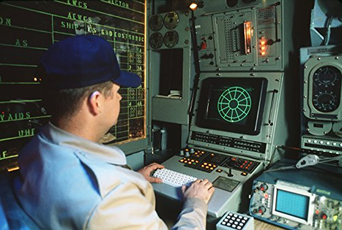 Home Comforts Laminated Poster A Crew Member Monitors The SLQ-32 Radar Warning System Console Aboard The Battleship USS Iowa (BB 61 Vivid Imagery Poster Print 24 x 36 ()