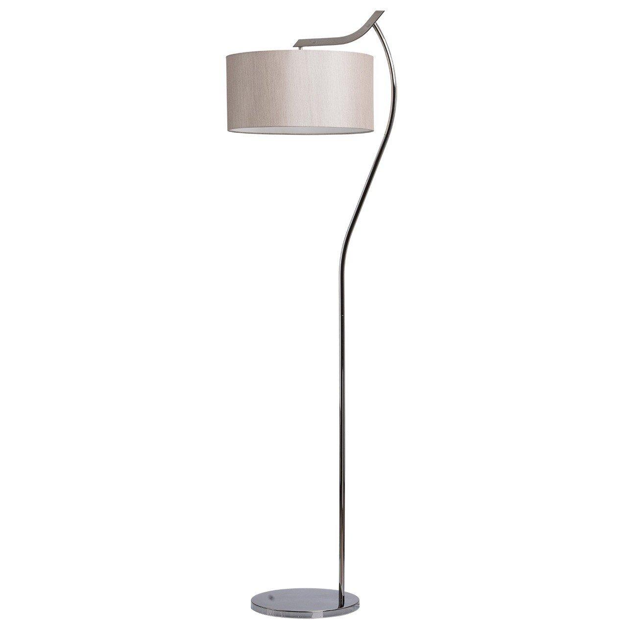 Applique classica moderna colore cromo metallo acciaio inossidabile paralume tessuto chiaro in camera da letto 1 bulb 1 * 40W E14 - escl [Classe di efficienza energetica A] MW-Light