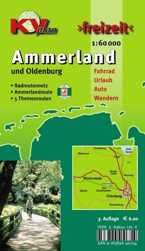 Ammerland Landkreis: 1:60000 Freizeitkarte mit Ammerlandroute