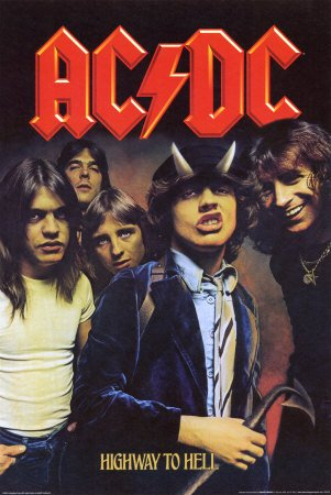 Beyond The Wall AC/DC Highway to Hell Album Cover Hard Rock Music Icons Poster Print 24 by - Rock Cover Album