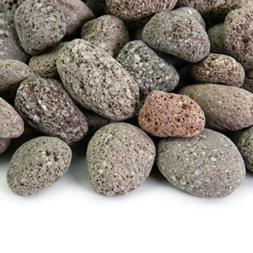Red 2 Inch - 4 Inch Fire Rock | Fireproof and Heatproof Round Pebbles for Indoor or Outdoor Gas Fire Pits and Fireplaces - Natural, Hand-Picked Stones | 10 Pounds ()