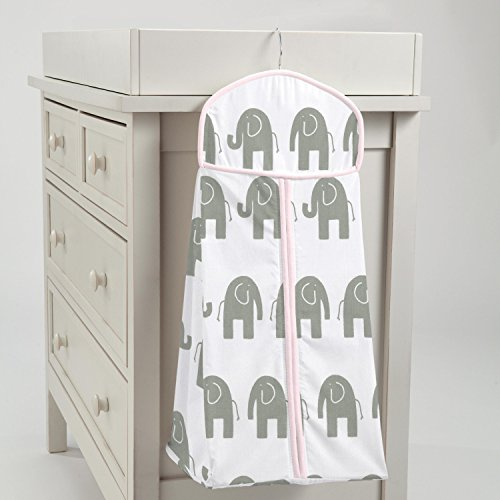 Carousel Designs Pink and Gray Elephants Diaper Stacker by Carousel Designs