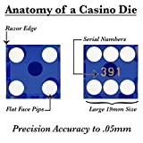 Brybelly Casino Grade AAA 19mm Dice - Razor Sharp