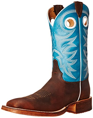 1 inch Bent Rail Riding Boot, Copper Rough Rider/Candy Blue, 10 B US ()