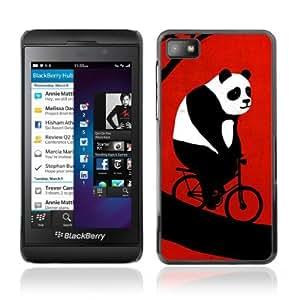 YOYOSHOP [Funny Bicycle Panda] Blackberry Z10 Case