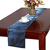 Jnseff Wolf Forest Dark Predator Animal Hunter Table Runner, Kitchen Dining Table Runner 16 X 72 Inch For Dinner Parties, Events, Decor