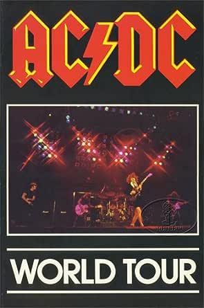 AC/DC 1980-81 Back In Black Tour Concert Program Programme Book