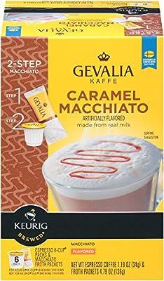 GEVALIA Caramel Macchiato Latte Coffee, K-CUP Pods, 5.98 oz, 6 Count