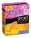 Health & Personal Care : Playtex Sport Fresh Balance Tampons, Light Scented, 16 Count