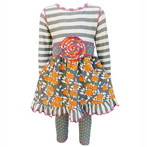 Girl Clothes Boutique - AnnLoren Big Girls' Floral & Striped