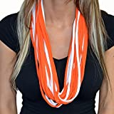Sports Team Sippin' Scarf – BYOB and Hide Your Alcohol at the Game (Orange and White)