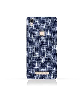 AMC Design Lava Iris Fuel 80 TPU Silicone Case with Brushed Chambray Pattern