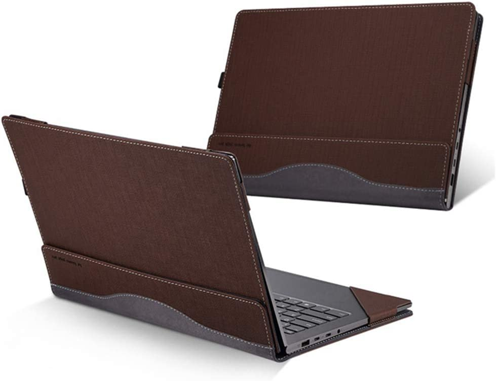 Heycase Compatible for Lenovo ThinkPad X1 Carbon Cover 7th Gen & 6th Gen & 5th Gen Laptop 14 Inch (NOT FIT 1st Gen/2nd Gen/3rd Gen/4th Gen), PU Leather Folio Stand Protective Hard Shell Case Coffee