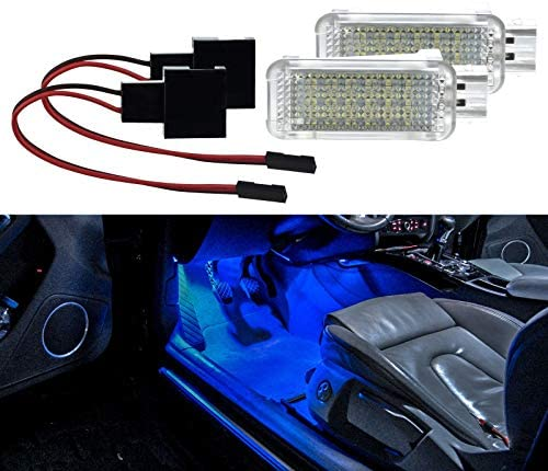 2 X Footwell Lighting Led Smd Module Blue For Golf 5 6 7 Polo 6r 6c Leon A1 A3 A4 B6 A4 B7 A4 B8 A5 A6 C6 A6 C7 A7 A8 4e Auto