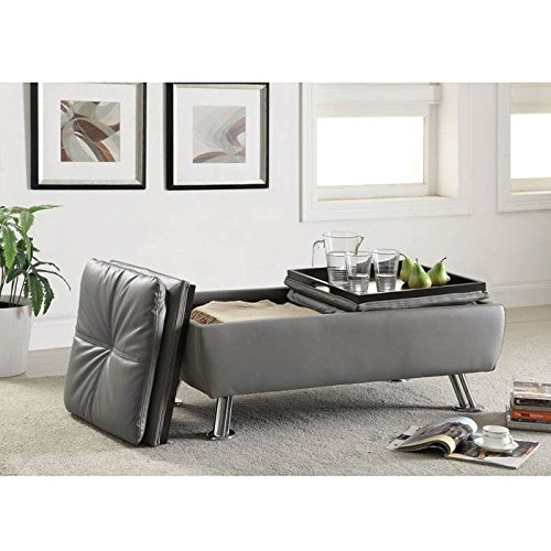 Coaster Dilleston Storage Ottoman in Gray