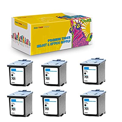 New York TonerTM New Compatible 6 Pack CC635A HP 701 High Yield Inkjet for HP FAX : FAX 640 | FAX 650 | FAX 2140 - Black