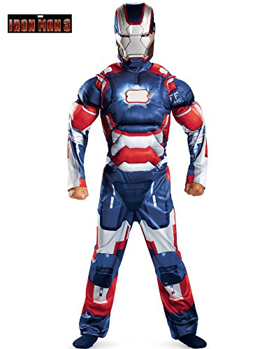 Marvel Iron Man 3 Patriot Boys Classic Muscle Costume, 10-12 -