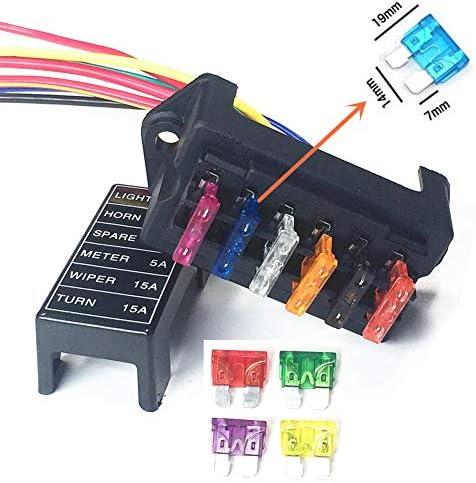 8 Pcs Free Fuse Boat 8 Way Circuit Blade Block 12V//24V Universal Qiorange Car Fuse Box Holder Fuse Holder 8 Way