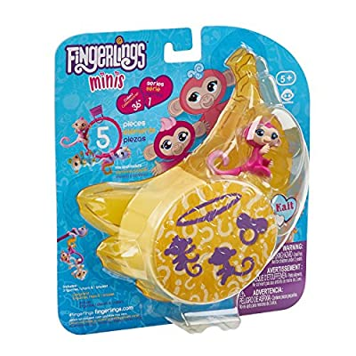 WowWee Fingerlings Minis-Series 1-5 Piece Banana Blister 3 Figures Plus Bonus Bracelet and Charm: Toys & Games