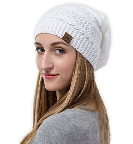Slouch Beanie - Slouchy Cable Knit Beanie - Chunky, Oversized Slouch Beanie Hats for Men & Women - Stay Warm & Stylish - Serious Beanies for Serious Style