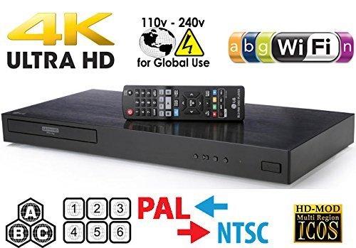affordable LG 4K Region Free Smart WiFi UHD 4K Ultra HD Blu-ray  DVD Player Multi Region 3D Dolby Vision HDR  6Ft Dynastar HDMI Cable Bundle Model UBKM9
