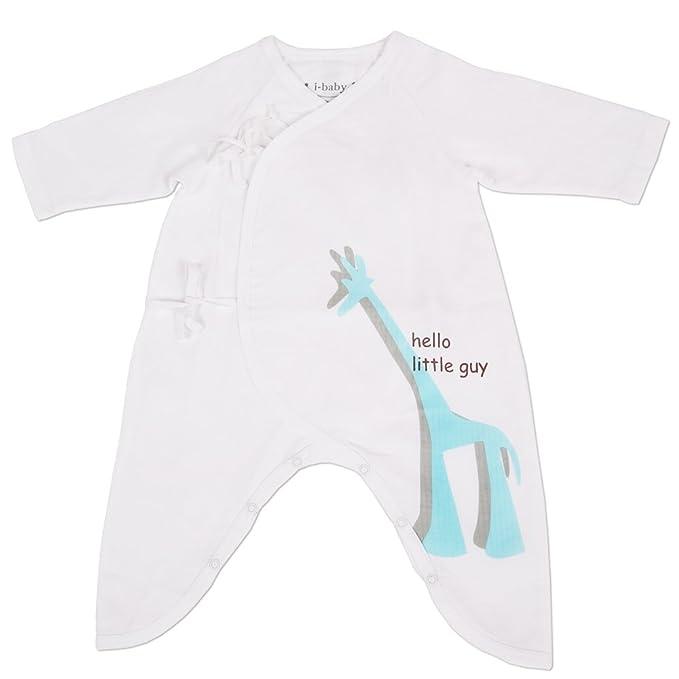 Bebé Recién Nacido Mono Mamelucos Una Pieza Ropa 100% Algodón Gasa Muselina Traje de Pijama