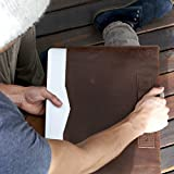 New Macbook Pro Touch Bar leather sleeve, Hand Stitched Macbook Pro 12, 13, 15 inch Leather Case, Laptop Sleeve, Portfolio, Gifts for Men, Handmade, Personalized Gift.Free fast shipping// Slant