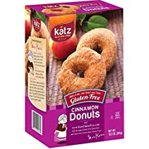 Katz Gluten-Free Cinnamon Donuts | Dairy, Nut, Soy and Gluten-Free | Kosher (1 Pack of 6 Donuts, 10.5 Ounce)