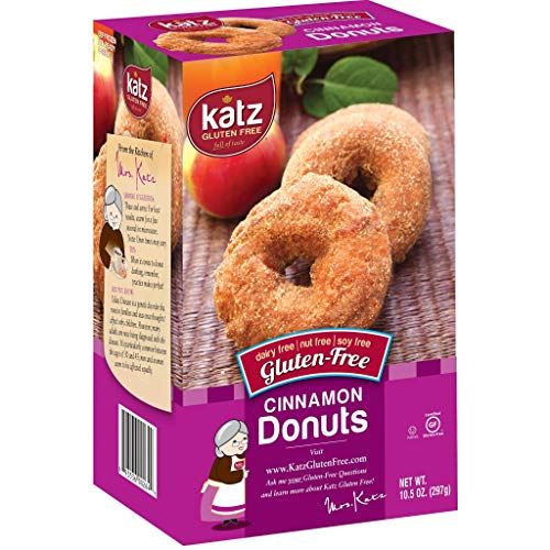 Katz Gluten Free Cinnamon Donuts | Dairy, Nut, Soy and Gluten Free | Kosher (3 Packs of 6 Donuts, 10.5 Ounce Each)