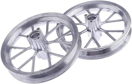 Amazon Com 1 Pair Front Rear 12 1 2 X 2 75 Tire Wheel Rim Replacement For 49cc Mini Moto Pocket Dirt Bike Silver Automotive