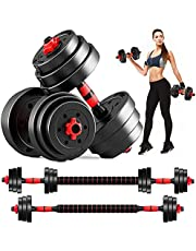 Fathers Day for Dad DOUBLX Weights Dumbbells Set Adjustable Dumbellsweights Set, 10 15 20 30 LB Dumbell Set of 2, Barbell Weight Set for Home Gym, Exercise Fitness Dumbbells for Men and Women