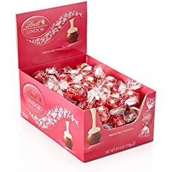 LINDOR Valentine Milk with White Chocolate Truffles Box,25.4 Ounce,60 Count