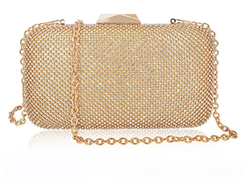 Evening Clutch Bag Women Box Rhinestone Crystal ()