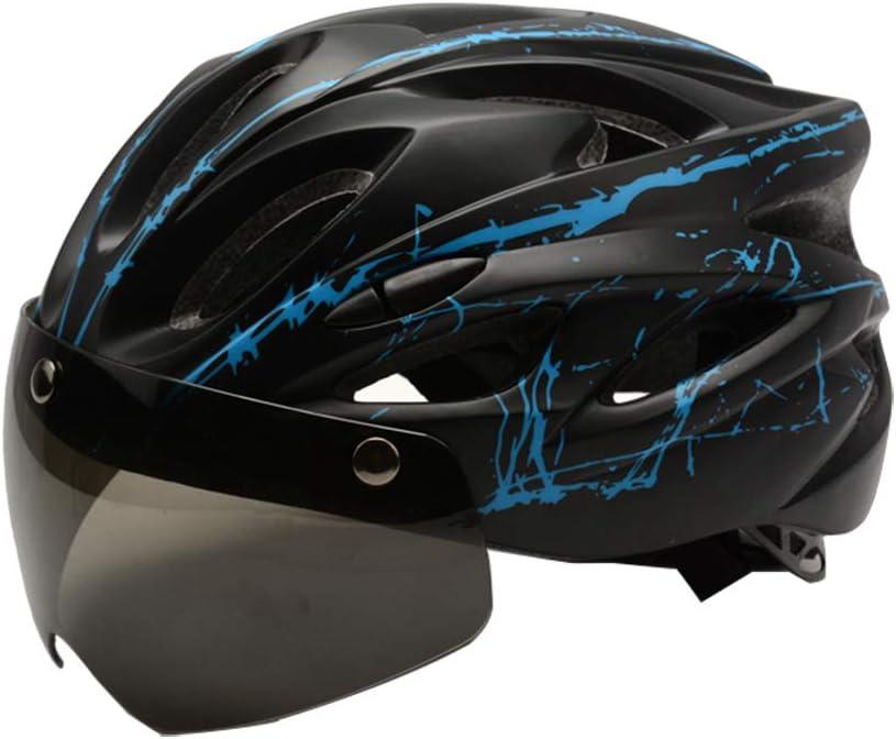 Ciclismo Mountain Road Bicycle Helmets Protecci/ón de Seguridad para Adultos Ajustable y Transpirable FRFJY Cycle Bike Helmet con Gafas magn/éticas Desmontables Visor Shield para Mujeres Hombres