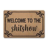 ZQH WelcomeDoor Mat Welcome to The Shitshow Welcome Mat (23.6 X 15.7 in) Non-Woven Fabric Top with a Anti-Slip Rubber Back. Door Rugs for Entrance Way Doormat
